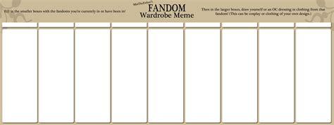 wardrobe template fandom wardrobe meme blank by miathefeline on deviantart