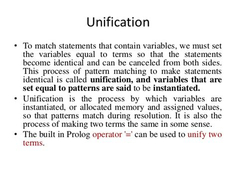 pattern matching and unification logic programming 1