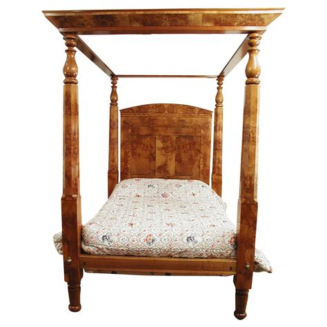 4 post canopy bed four poster canopy bed american c 1840 empire burl maple