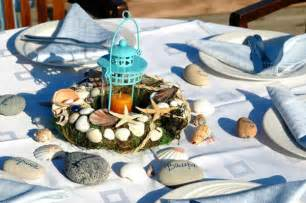 Blue Baby Shower Drinks - sea inspired table setting and ideas for your beach themed party