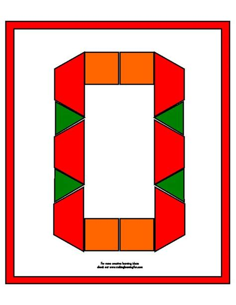 Numbers With Pattern Blocks | templates pattern blocks and numbers on pinterest