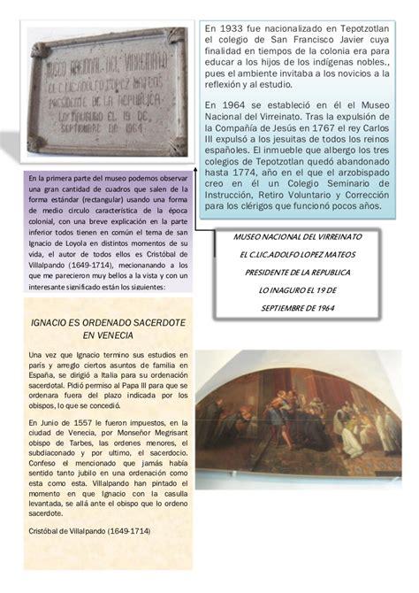 tripticos de la sociedad virreinal apexwallpapers com reporte museo virreinato
