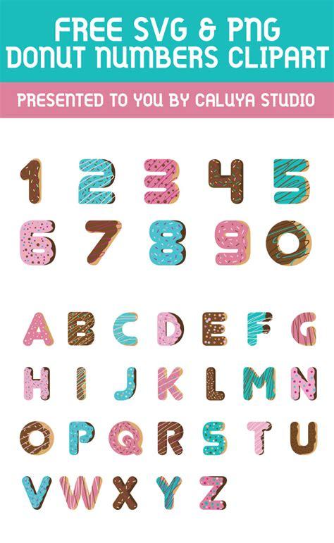Donuts Number august freebie 3 donut numbers caluya design