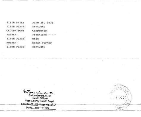 Vigo County Marriage License Records Benjamin Franklin Devol And Nancy Turnham