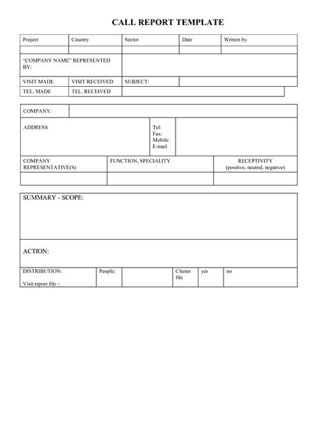 weekly sales call report template brettkahr com