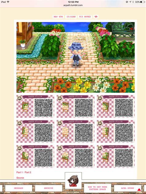 acnl flower qr codes paths flower brick path acnl qr code paths pinterest brick