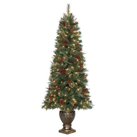 6 5 ft hayden pine potted artificial christmas tree with