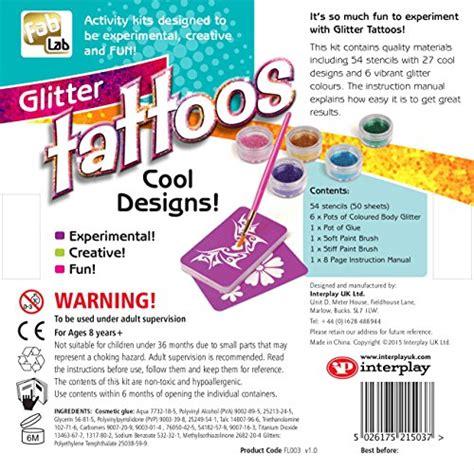 glitter tattoo kit ireland fablab glitter tattoos kit at shop ireland