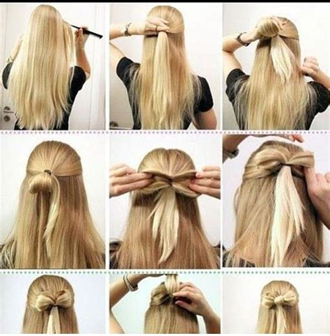 hairstyles how to do a bow how to do a bow hairstyle just stuff pinterest
