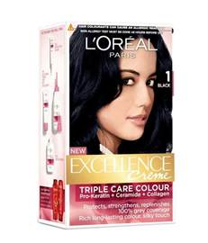 loreal black hair color loreal excellence black no 1 hair color 172 ml