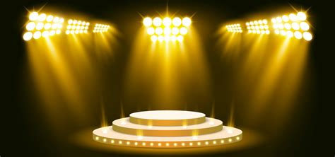 yellow stage lighting background  spotlight vector