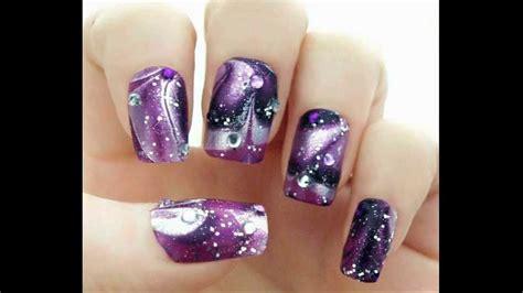 water marble nail art tutorial in hindi galaxy water marble nails glitterface tutorial youtube