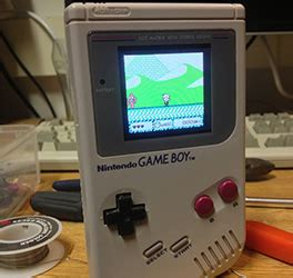 gameboy mod store a brick sized game boy advance sp hackaday