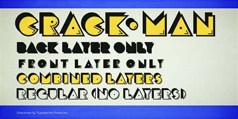crack man font family befontscom
