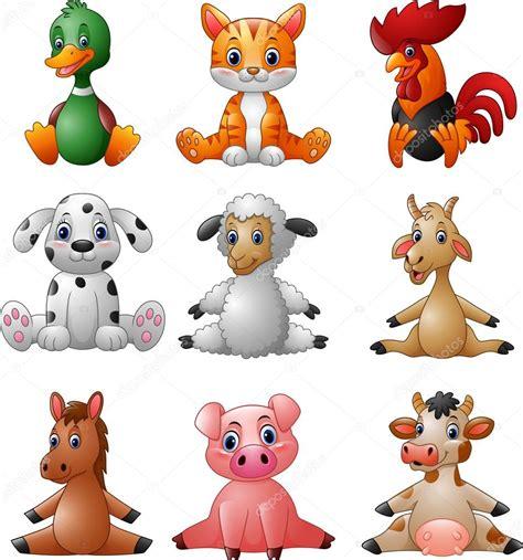 imagenes vectoriales de animales set de colecci 243 n de animales granja dibujos animados
