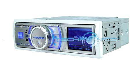 alpine boat stereo alpine ida x100m in dash marine boat mp3 stereo player
