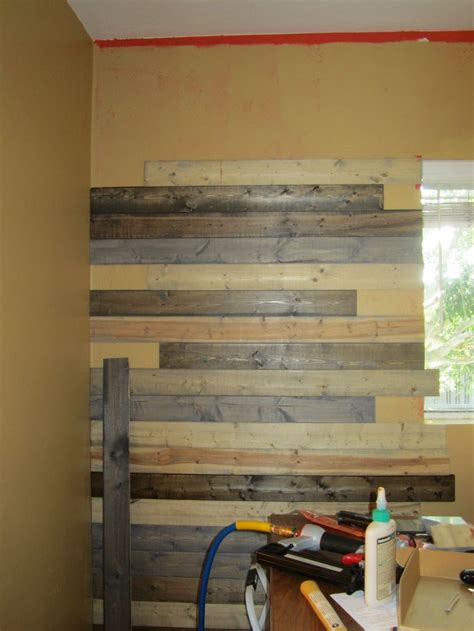 faux wood pallet wall buying inexpensive pine boards for flooring various stains to create