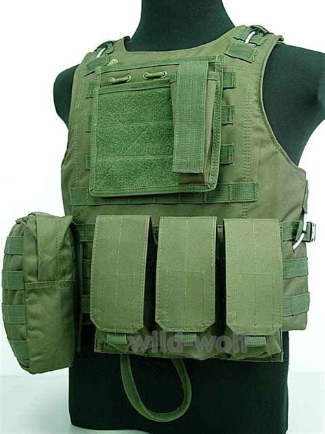 Vest Rompi Airsoft Swat outdoor tactical swat airsoft molle plate carrier combat vest green in