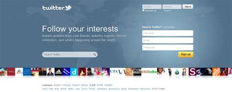 novo layout twitter twitter coloca no ar o novo layout de sua home not 237 cias