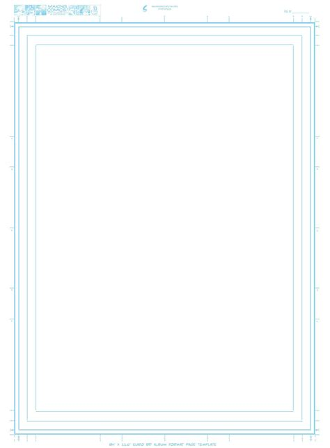 Page Aspect Ratios Templates Making Comics Page Template