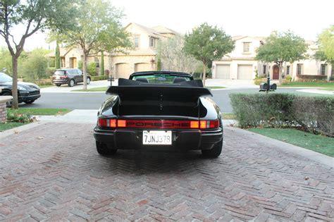 porsche 930 whale tail 1985 porsche 911 carerra cabriolet triple black 930 whale