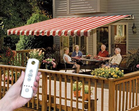 Easyshade Motorised Awnings by Sunsetter Awnings Retractable Deck And Patio Awning