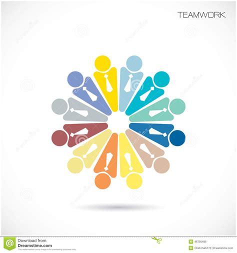 team partners friends sign design vector template business