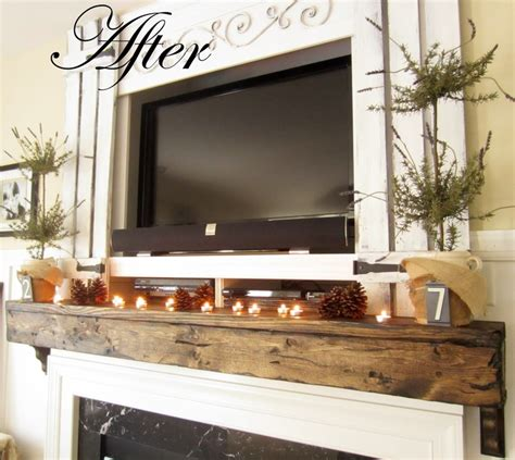 easy diy rustic mantel diy mantels