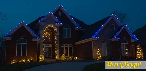 top christmas light color for roof merry bright designs llc blue