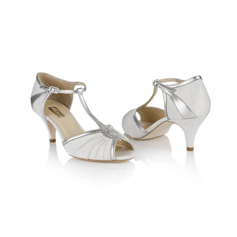 Spangenpumps Ivory by Matilda T Bar Wedding Shoes By