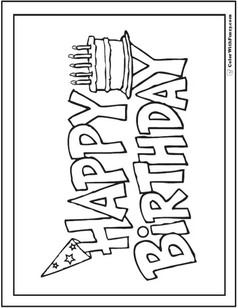 happy birthday coloring pages pdf 55 birthday coloring pages customizable pdf cake