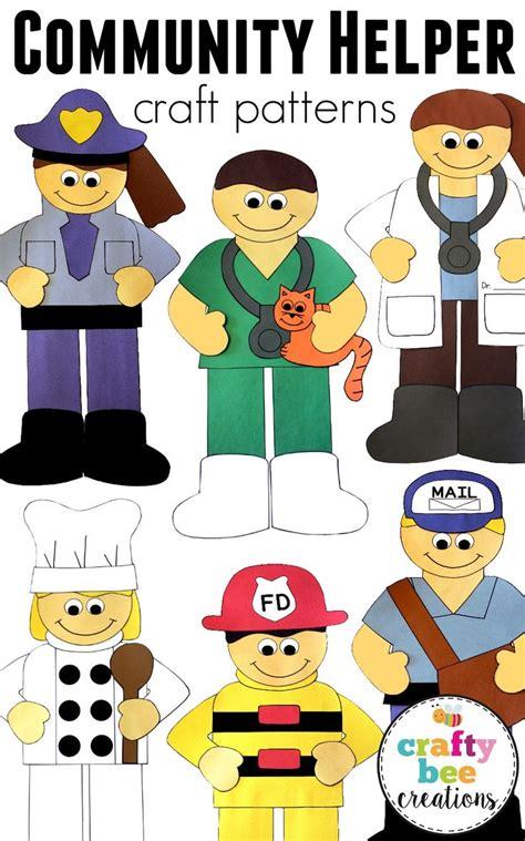 pattern cutting teaching jobs community helpers cut and paste set community helpers