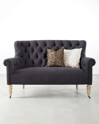 m s settees duckworth designs tufted sofas color of the day gray
