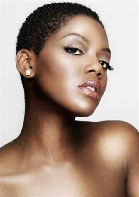 black women short natural hairstyle short hairstyles for black women with round faces short