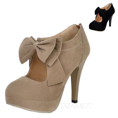 platform womens mens high heels bow shoes plus size