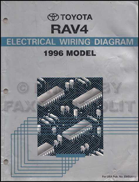 1996 toyota rav4 wiring diagram manual original