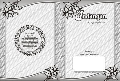 template undangan motif batik contoh undangan vector free download vector