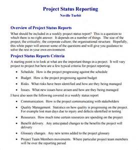 one page status report template best photos of one page report template powerpoint
