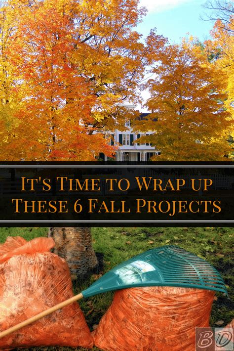 6 fall home improvement projects tips