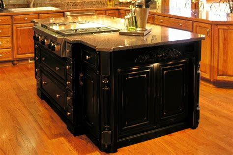 Granite Kitchen Ideas Stylish Black Kitchen Island With Granite Top Railing