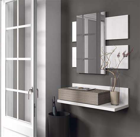 specchio da ingresso mobili da ingresso con specchio e cassetto bianco lucido e