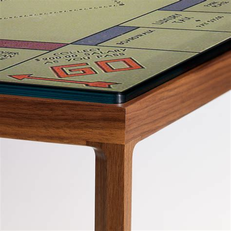monopoly glass coffee table