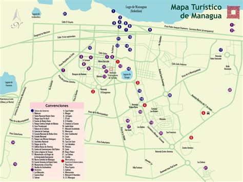 managua nicaragua map managua tourist map nicaragua