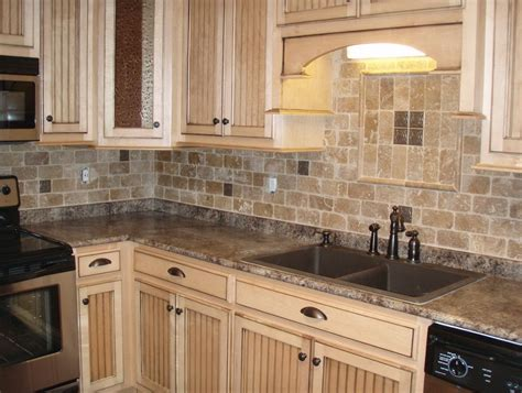 tile kitchen backsplashes tumbled stone backsplash kitchen tumbled stone backsplash