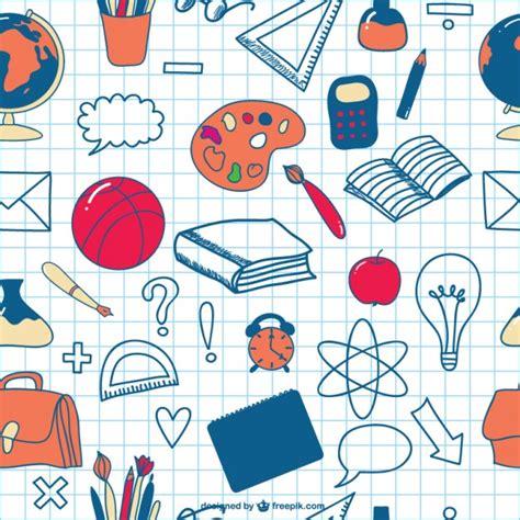 school doodle free vector school doodles seamless icons background vector free