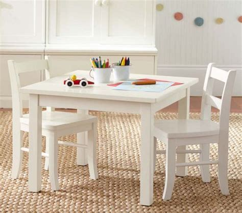 table chairs white pottery barn for