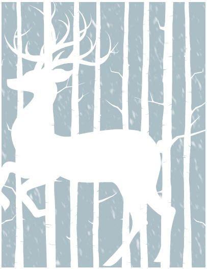 printable christmas card paper free printable woodland winter cards allfreepapercrafts com