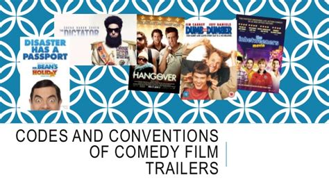 film comedy conventions codes and conventions of comedy film trailers