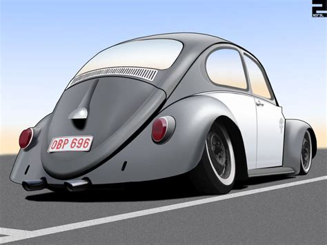 Drew Volkswagen by Pencil Drawing Of A Classic Vw Beetle California Style