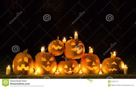 Animal Castle Piano Cy 6047b candles and pumpkins royalty free stock images image 21291719